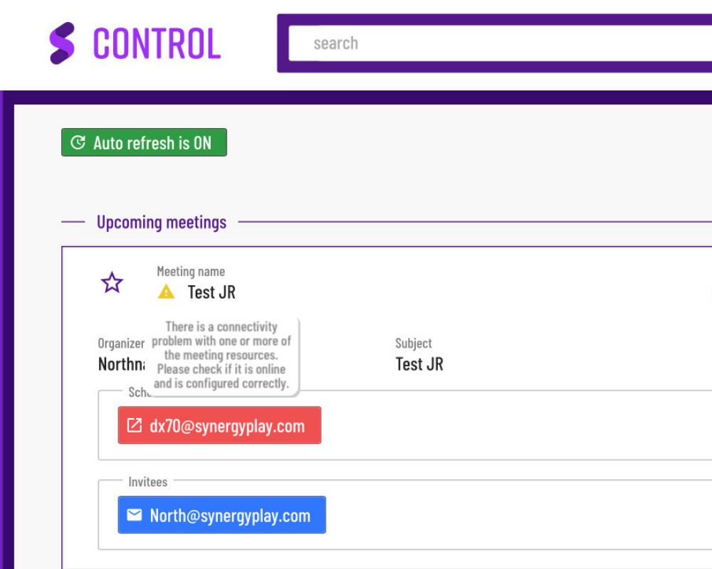 Control Meeting alerts