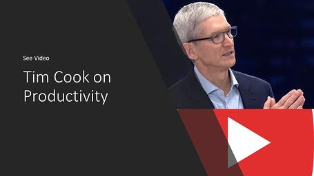 Tim Cook on Productivity